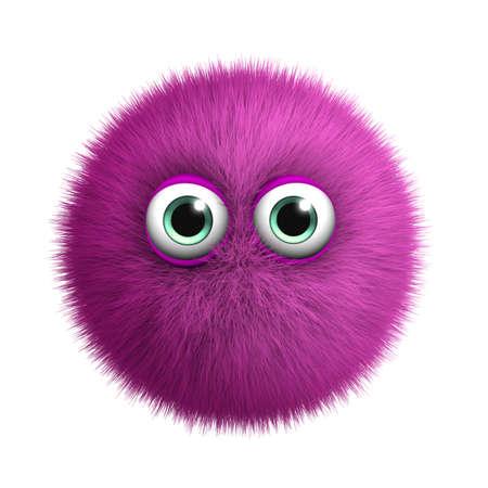 furry animals: 3d cartone animato mostro peloso