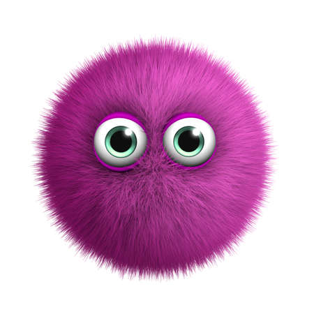 3d cartoon furry monster Stock Photo - 15624753
