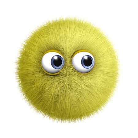 gomitoli lana: 3d cartone animato mostro peloso