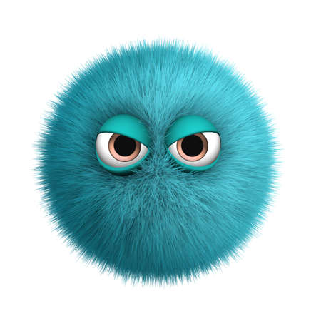 the hairy: 3d cartoon furry monster