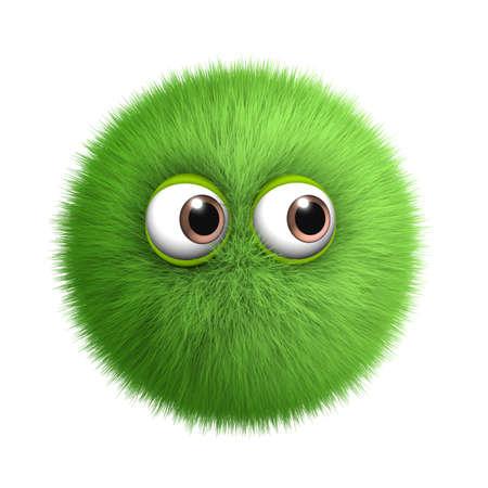 gomitoli di lana: 3d cartone animato mostro peloso