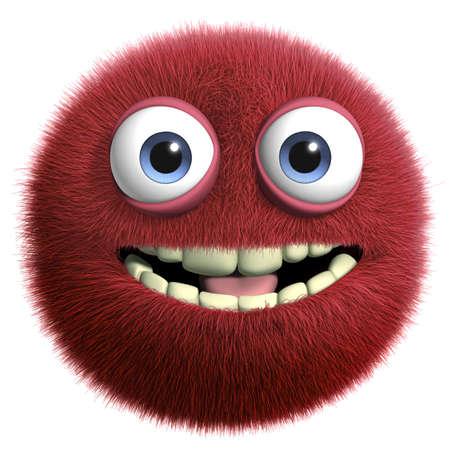 furry animal: Dibujos animados 3d monstruo peludo Foto de archivo