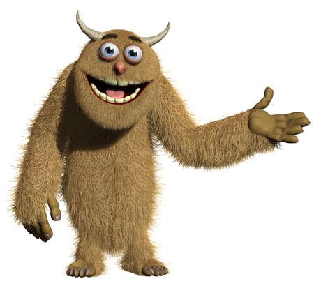 abominable: 3d cartoon furry monster