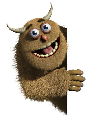 bigfoot: 3d cartoon furry monster