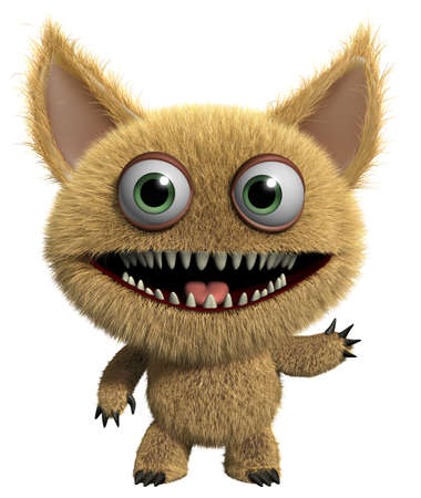 3d cartoon furry monster photo