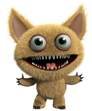 3d cartoon furry monster Stock Photo - 15625222