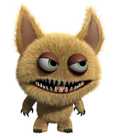 3d cartoon furry monster Stock Photo - 15625230