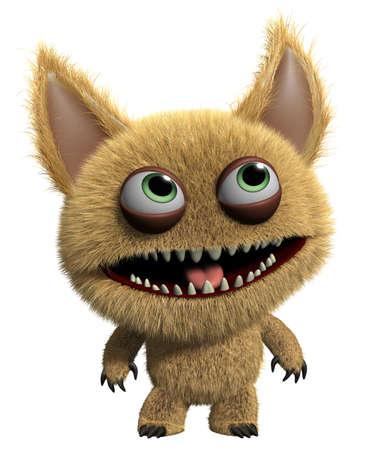 3d cartoon cute monster Stock Photo - 15625221