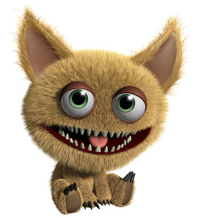 3d cartoon cute monster Stock Photo - 15625239