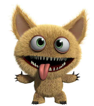 3d cartoon cute monster Stock Photo - 15625217