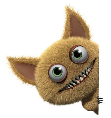 3d cartoon cute monster photo