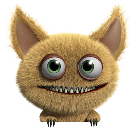 3d cartoon cute monster Stock Photo - 15625240