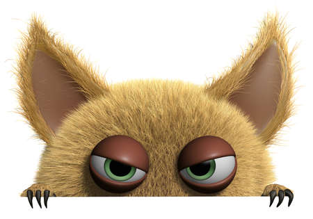 gremlin: 3d cartoon furry monster