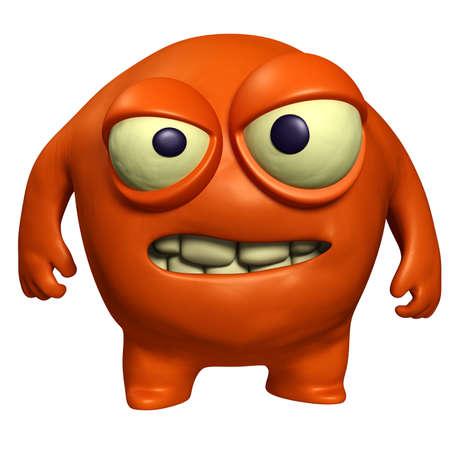 unicellular: 3d mostro del fumetto halloween