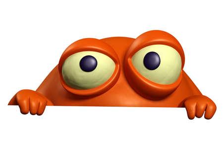 organisms: 3d cartoon red bug