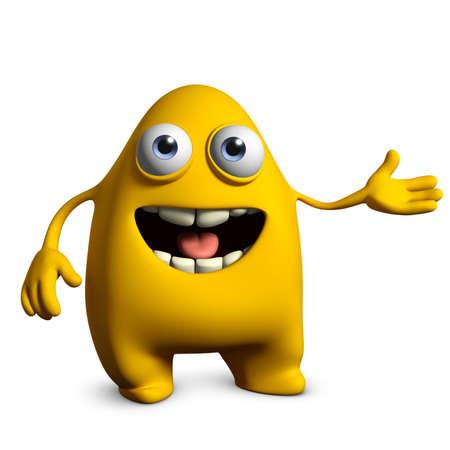 egghead: 3d mostro cute cartoon