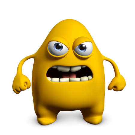 3d cartoon cute monster Stock Photo - 15624984