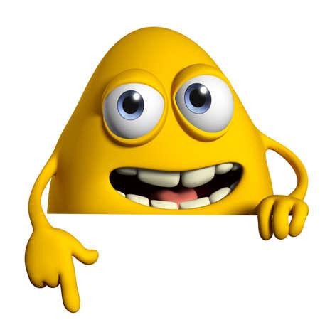 cartoon monster: 3d cartoon cute monster