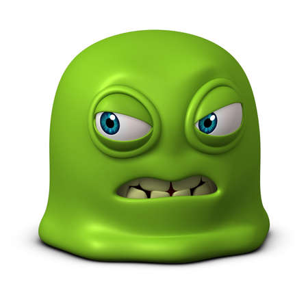 snivel: 3d cartoon green jelly monster