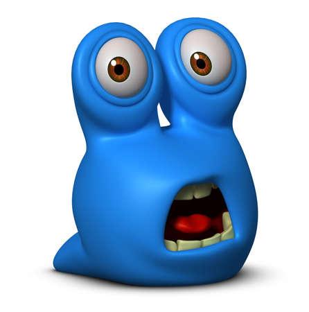 3d cartoon blue worm Stock Photo - 15625021