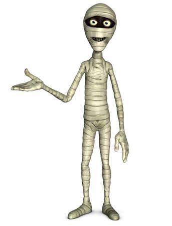 3d cartoon halloween mummy Stock Photo