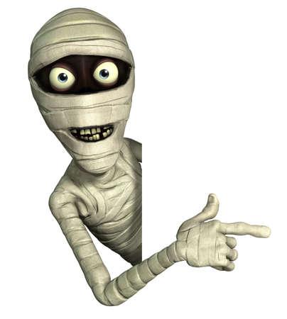 жуткий: 3D мультфильм Хэллоуин мумию
