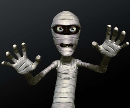 3d cartoon halloween mummy photo