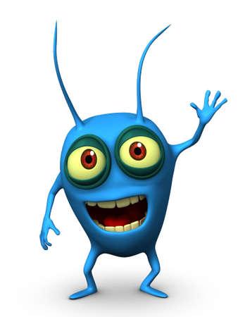 parasitic: 3d cartoon blue parasitic