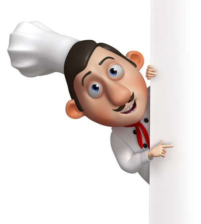 chef 3d: 3d cartoon chef  Stock Photo