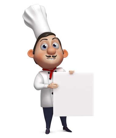 culinair: 3d cartoon chef-kok