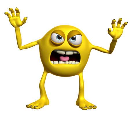 alien head: cartoon monster Stock Photo