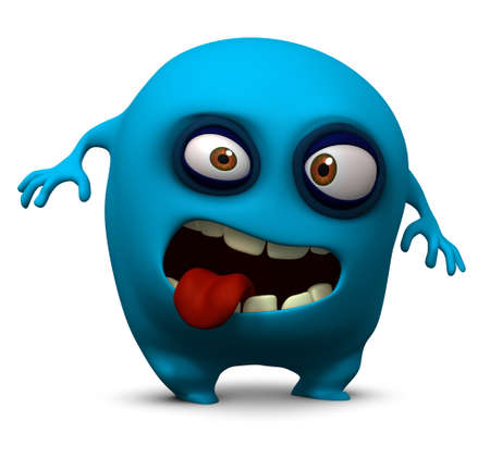 ugliness: 3d cartoon cute monster