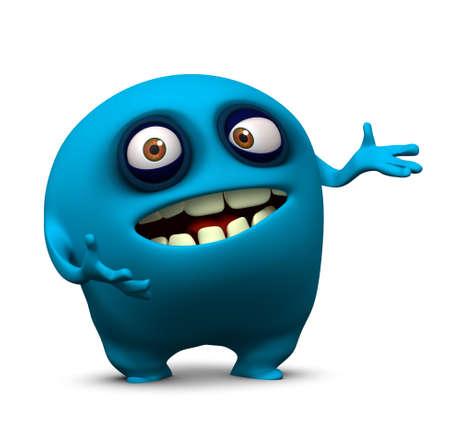fear cartoon: 3d cartoon cute monster