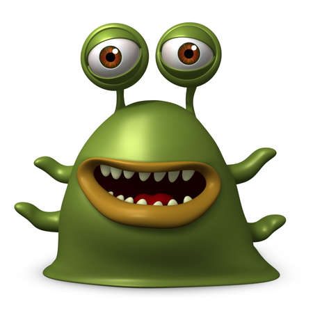 3d cartoon slug monster Stock Photo - 15626385