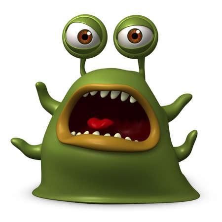 babosa: Dibujos animados 3d monstruo babosa
