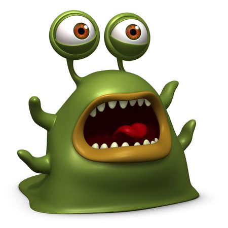 unicellular: 3d cartone animato mostro lumaca