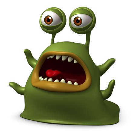 3d cartoon slug monster photo