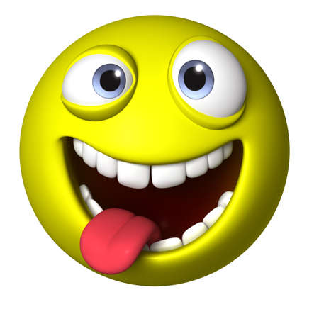 tongue: 3d cartoon ball