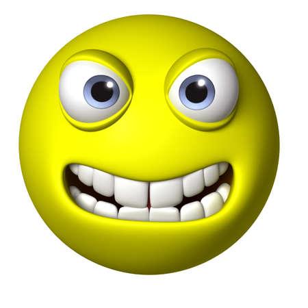 crazy face: 3d cartoon face Stock Photo