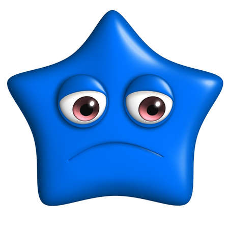 3d cartoon cute blue star photo