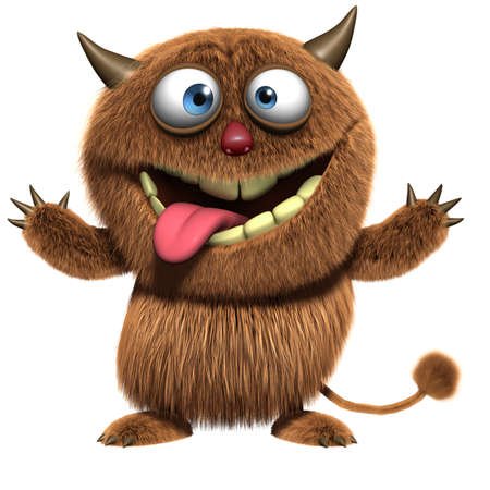 3d cartoon furry cute monster photo