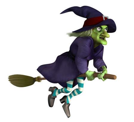 wiedźma: latania czarownica na miotle Zdjęcie Seryjne