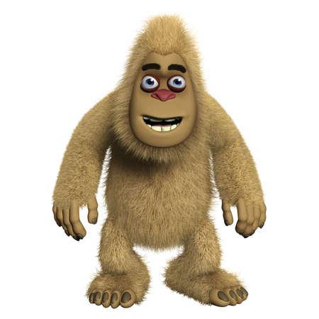 bigfoot: 3d cartoon cute monster