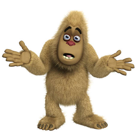 bigfoot: 3d cartoon yeti Stock Photo