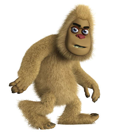 3d cartoon bigfoot