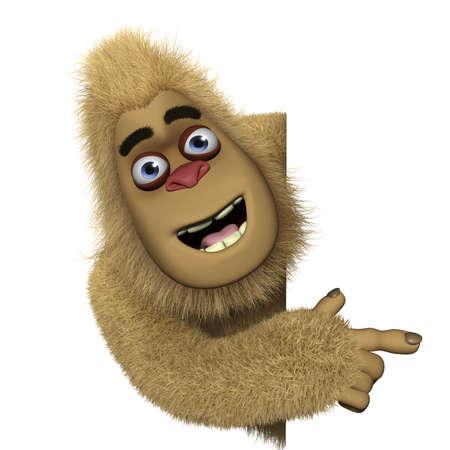 bigfoot: 3d cartoon cute bigfoot