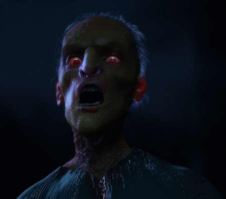 shreds: 3d cartoon halloween zombie
