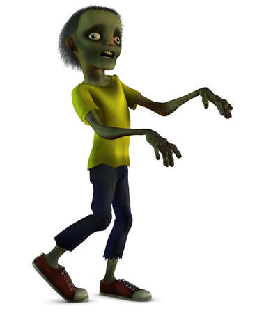 3d scary: 3d cartoon halloween zombie