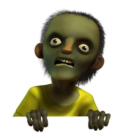3d cartoon halloween zombie