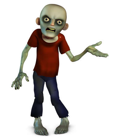 creepy monster: 3d cartone animato halloween zombie
